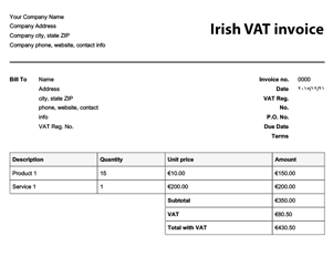 Free Invoice Templates Easy Invoices